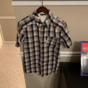 Oakley Short Sleeve Plaid Button Up Shirt